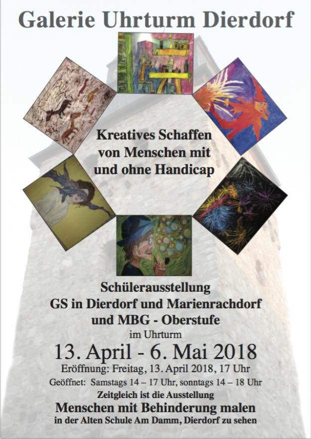 Schüler Kunstausstellung Uhrturm Dierdorf 2018